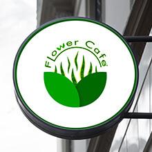 نمونه کار طراحی لوگو تلفیقی کافه گل