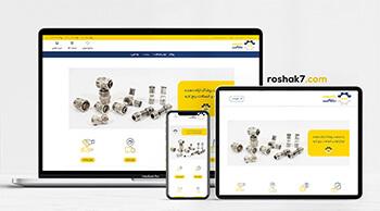 طراحی سایت روشاک
