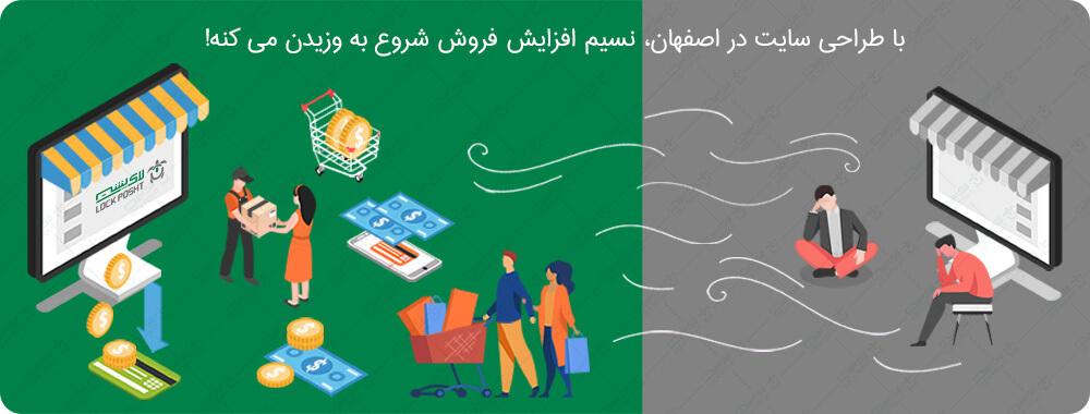 تاثیر طراحی سایت در اصفهان در فروش