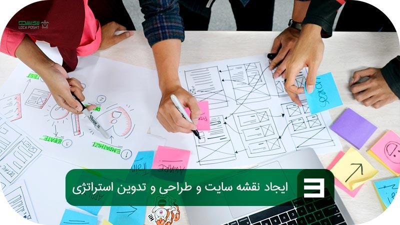 ایجاد نقشه سایت و تدوین استراتژی